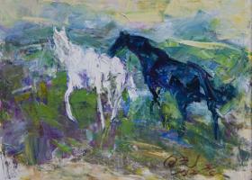 向光《两匹马》